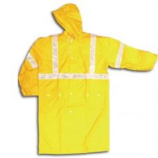 GRF03 雨衣 黃色一件頭白反光帶