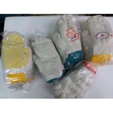 紅,綠,黃邊綿紗手襪
